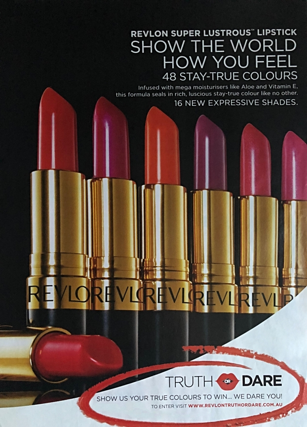 Revlon superlustrous magazine ad